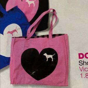 VS Pink 2008 vintage heart & dog tote travel bag